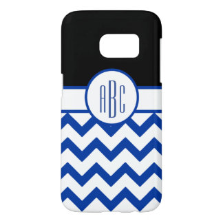 Monogram on White and Blue Samsung Galaxy S7 Case