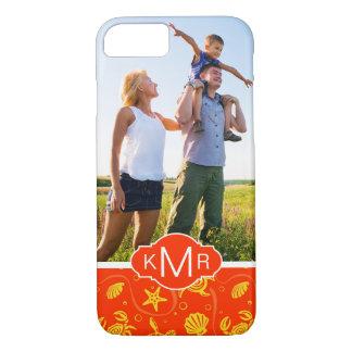 Monogram | Orange Beach Pattern iPhone 8/7 Case
