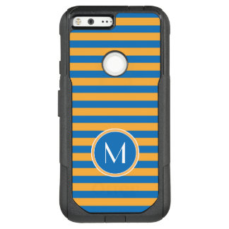 Monogram | Orange & Blue Stripes OtterBox Commuter Google Pixel XL Case