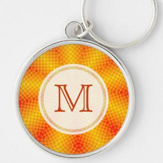 Monogram: Orange Burst Keychain