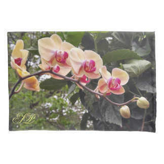 Monogram orcid floral pillowcase