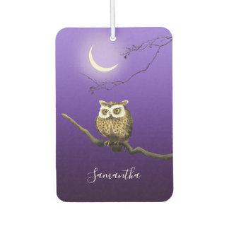 Monogram Owl Night Moonlight Blue Air Freshener
