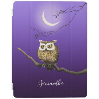 Monogram Owl Night Moonlight Deep Blue 2/3/4 Cover iPad Cover