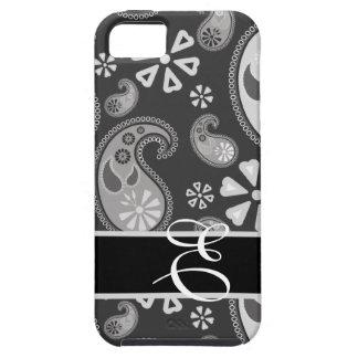 Monogram Paisley  iPhone 5 Case-grey tones iPhone 5 Covers