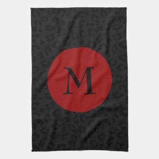 Monogram Panther Print Towels