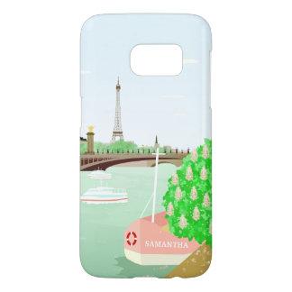 Monogram Paris Eiffel Tower Samsung Galaxy S7 Case