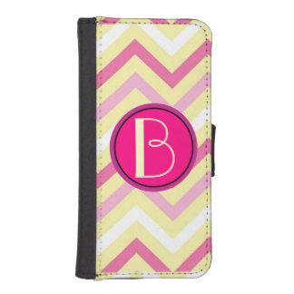 Monogram, Pastel Chevron iPhone 5/5S Wallet Case iPhone 5 Wallet Case