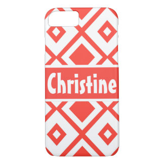 Monogram Pattern Light Red iPhone 7 Barely There iPhone 8/7 Case