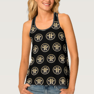 Monogram pattern tank top
