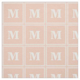 Monogram peach stripes fabric