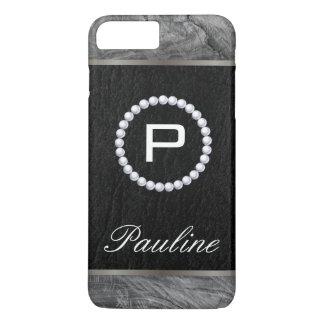 Monogram Pearl Wood Black and White iPhone 8 Plus/7 Plus Case