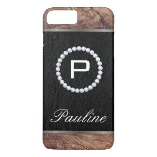Monogram Pearl Wood Texture iPhone 8 Plus/7 Plus Case