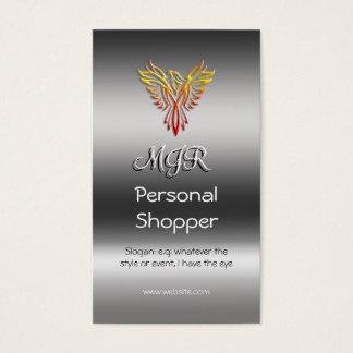 Monogram, Personal Shopper, metallic-effect Business Card