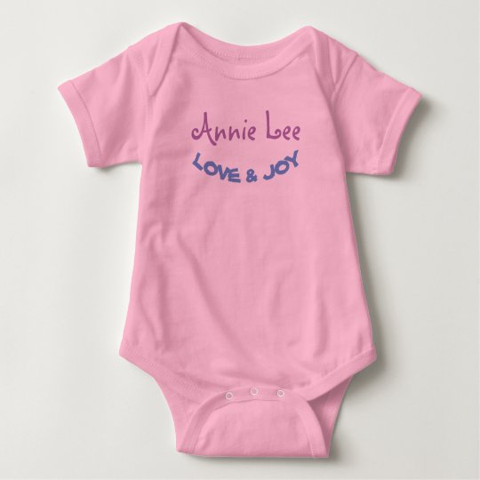 MONOGRAM Personalize Baby Body Suit Baby Bodysuit