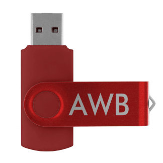 Monogram PERSONALIZE red USB Flash Drive