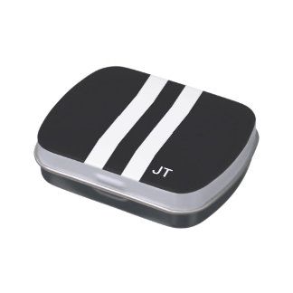 Monogram Personalized Candy Tin For Men