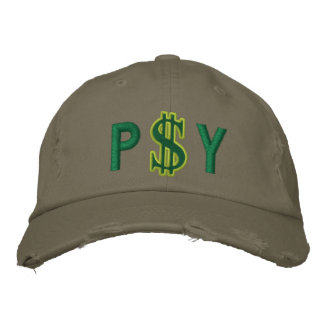 Monogram Personalized Dollar Sign Cash Embroidered Hat