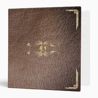Monogram Personalized Faux Leather Custom Vinyl Binder