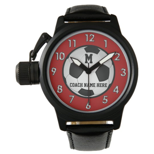 Monogram Personalized Soccer Coach Gifts, Watch