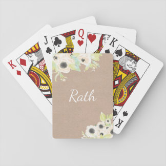 Monogram Personalized Wedding Poker Playing Cards