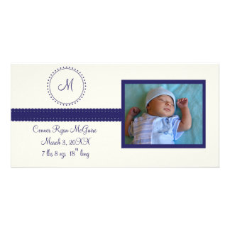 Monogram Photo Card (navy)