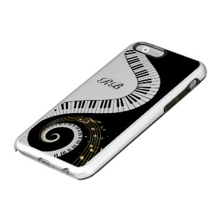 Monogram Piano Keys and Musical Notes Incipio Feather® Shine iPhone 6 Case