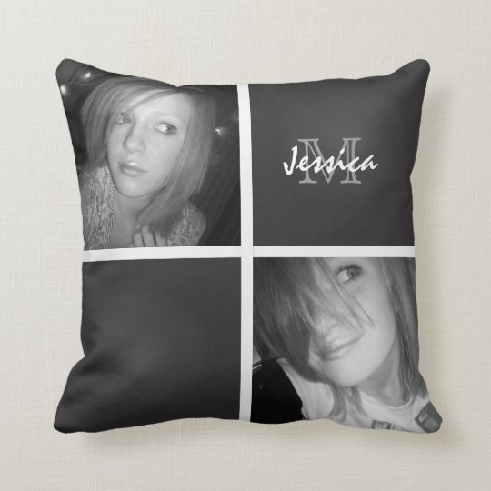 Monogram: Picture Throw Pillow