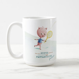 Monogram Piglet friendship mug, Wiggle and Oink Coffee Mug