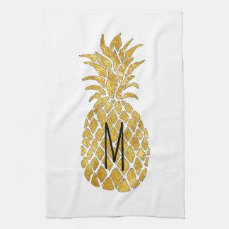 monogram pineapple kitchen towel