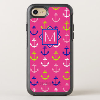 Monogram | Pink & Blue Nautical OtterBox Symmetry iPhone 8/7 Case