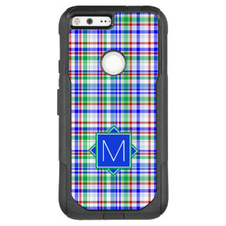 Monogram | Pink & Blue Plaid OtterBox Commuter Google Pixel XL Case