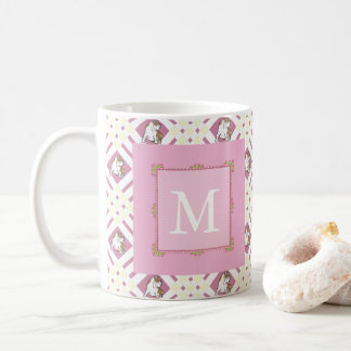 Monogram Pink Bulldog Coffee Mug