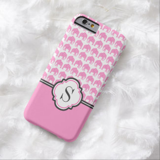 Monogram Pink Elephant Pattern Phone Case