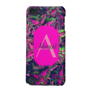 Monogram - Pink Leaf Camo iPod Touch 5G Case