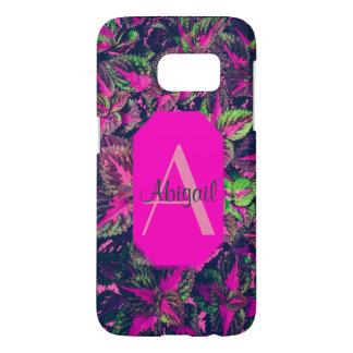 Monogram - Pink Leaf Camo Samsung Galaxy S7 Case