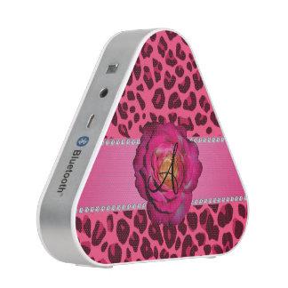 Monogram pink leopard pink rose speaker