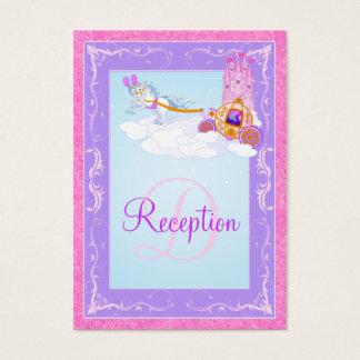 Monogram Pink, Purple Fairy Tale Enclosure Card