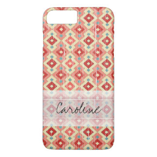 Monogram Pink Red Geo Tribal Ikat Diamond Pattern Case-Mate iPhone Case