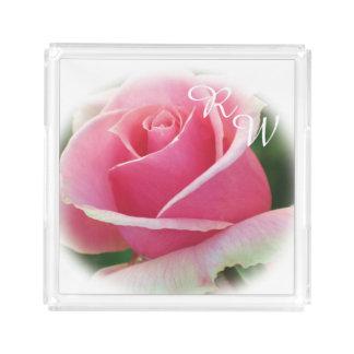 Monogram Pink Rose Perfume Tray