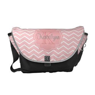 Monogram Pink Zigzag Diaper Bag Messenger Bag