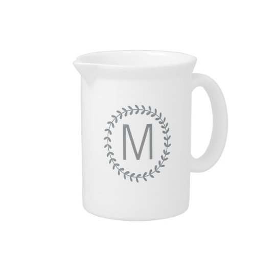 Monogram Pitcher