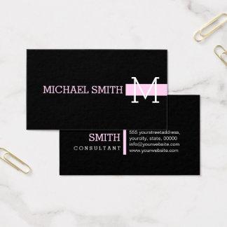 Monogram Plain Black Modern Shampoo #2 Business Card