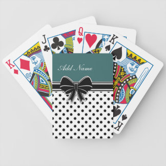 Monogram Playing Cards With Bow