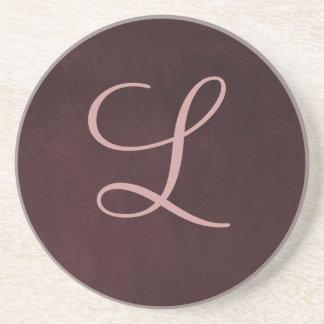 Monogram Plum Coaster