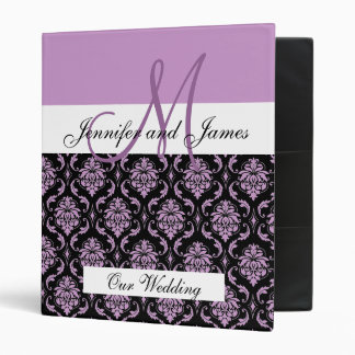 Monogram Plum Wedding Planning & Photo Albumn Binders