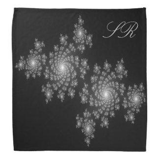 Monogram Pretty Sparkle fractal pattern Bandana