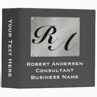 Monogram Professional Carbon Fiber Silver Vinyl Binders