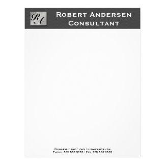 Monogram Professional Carbon Fiber Silver Letterhe Letterhead