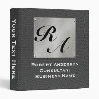 Monogram Professional Carbon Fiber Silver Vinyl Binder