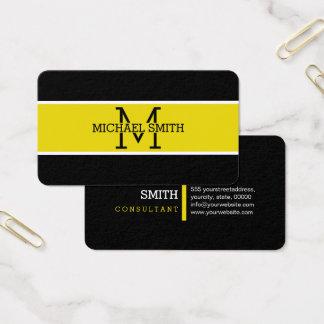 Monogram Professional Citrine Modern Business Card